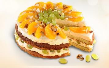 Tort z winogronami i pomarańczą - VIDEO