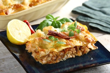 Włoska lasagne z owocami morza