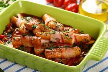 Zapiekane parówki w sosie pomidorowym