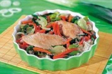 Zapiekany ryż z warzywami