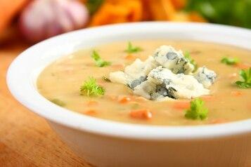 Zupa krem z kurek z szynką