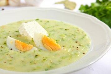 Zupa z cukinii z twarogiem