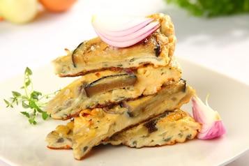 Tortilla z bakłażanem