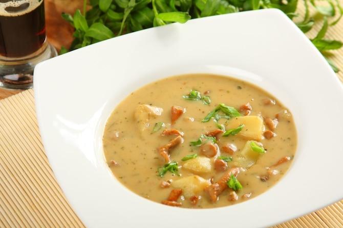 Kremowa zupa z kurek
