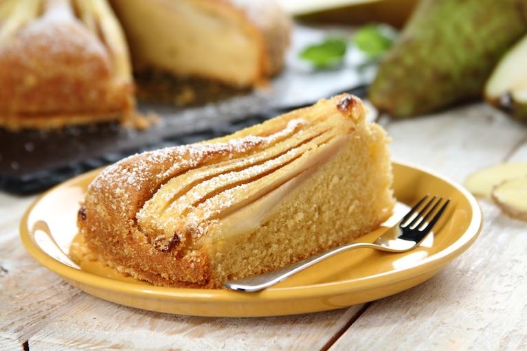 Ciasto ucierane z gruszkami