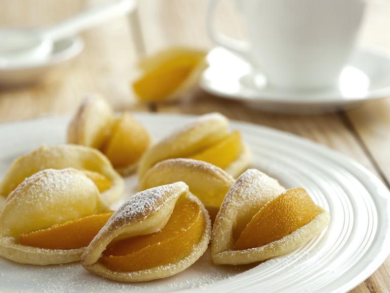 Ciastka z brzoskwiniami