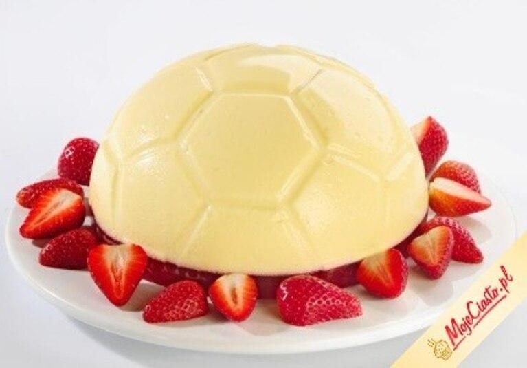 Biało-czerwony sernik- piłka
