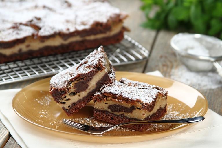 Brownie z tiramisu