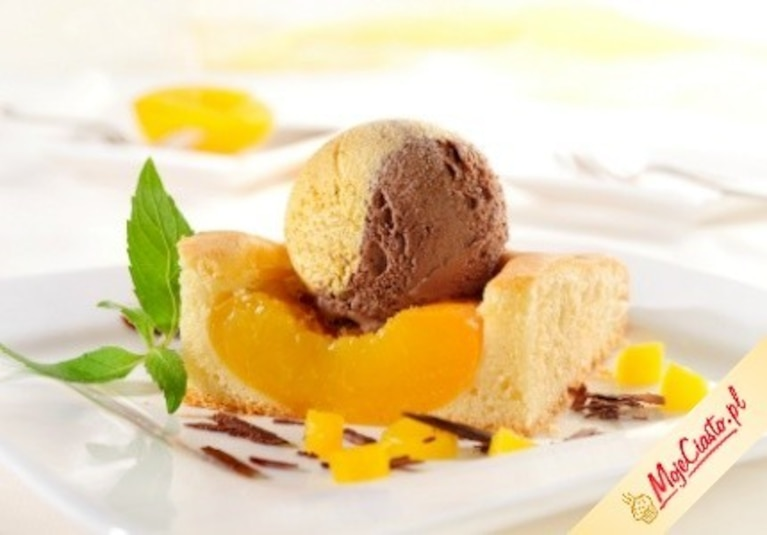 Ciasto brzoskwiniowe z Carte d'Or Vanilla
