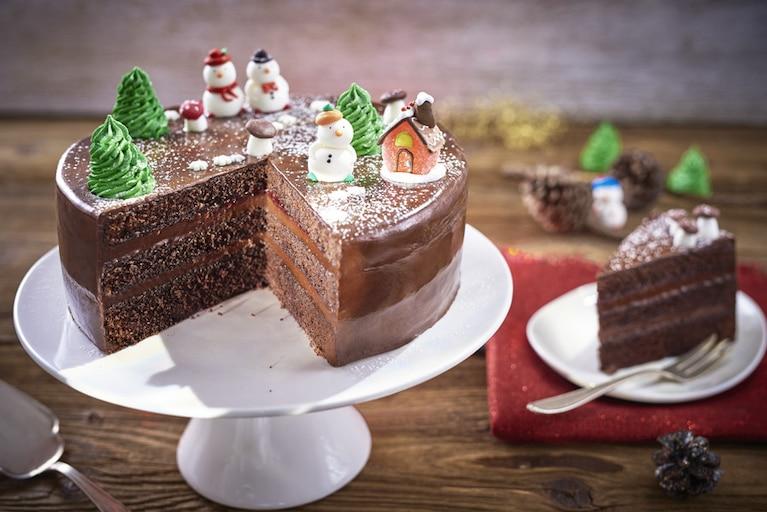 Świąteczny tort czekoladowy
