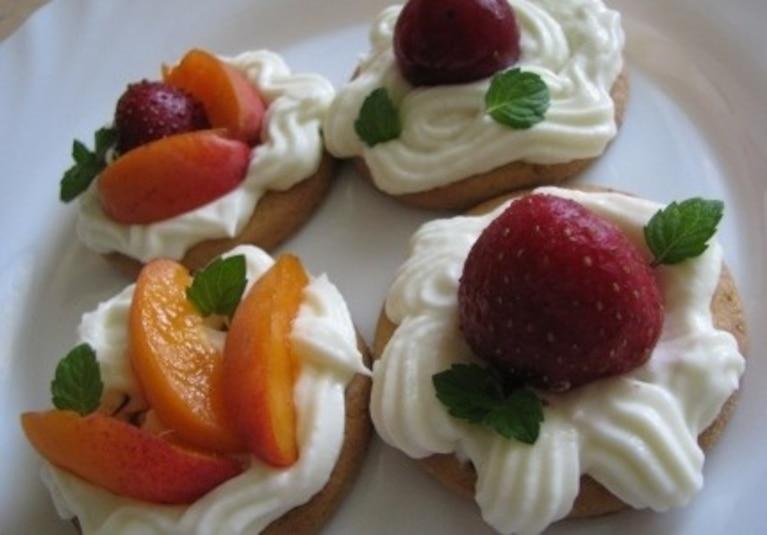 Ciasteczka cytrynowe z owocami