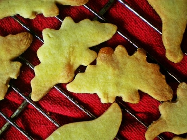 Ciasteczka marcepanowe dinozaury