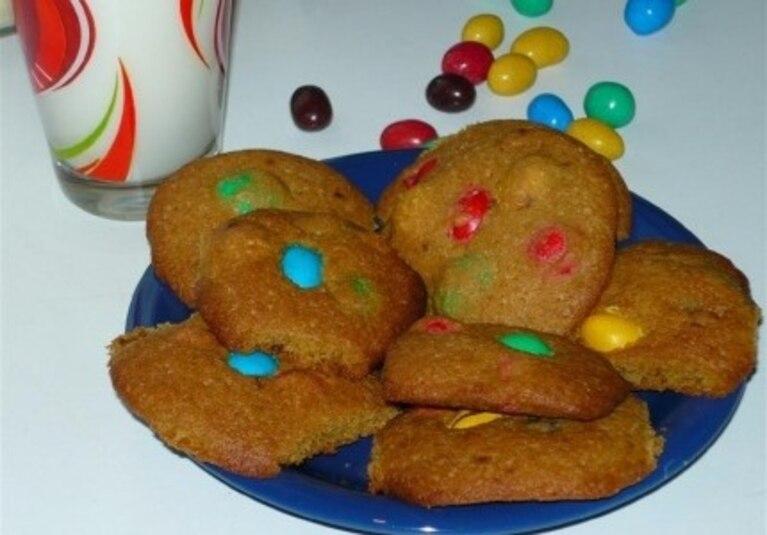 Ciasteczka z m&m's