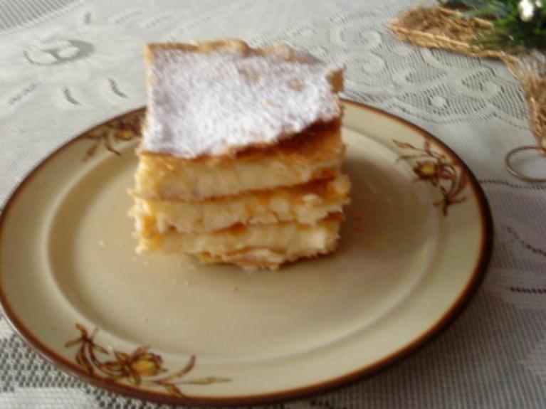 Ciasto francuskie - kremówka