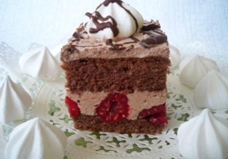 Ciasto Pawełek z malinami
