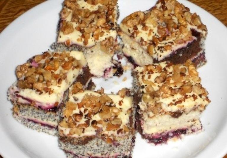Ciasto trzy kolory
