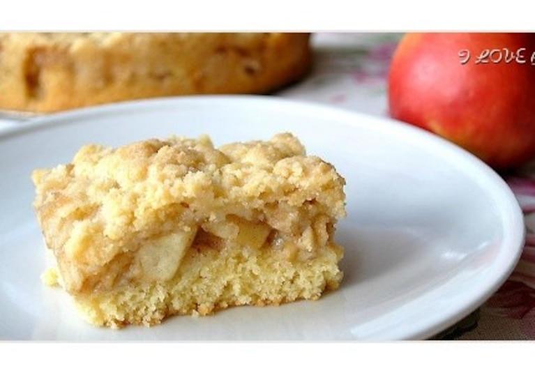 Ciasto z jabłkami i kruszonką - przepis