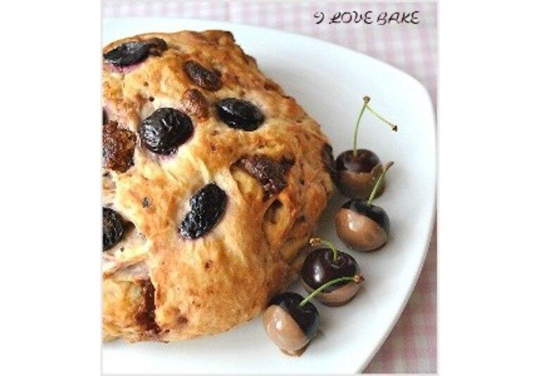 Czekoladowy chlebek z czereśniami - przepis