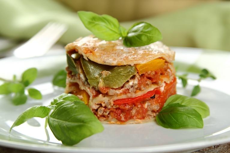 Extra ostra lasagne z grillowaną papryką