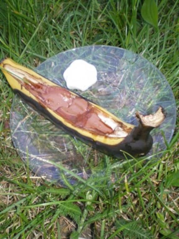Grillowane banany z czekoladą