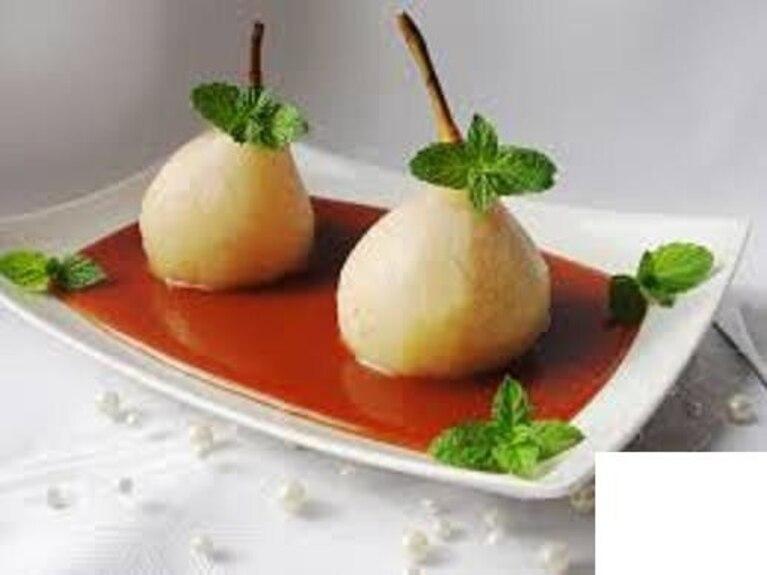 Gruszki w sosie karmelowym