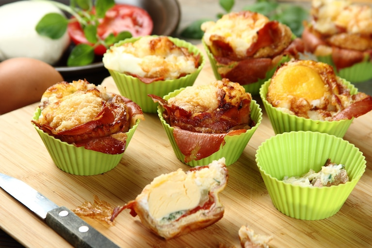 Jajka zapiekane w muffinkach