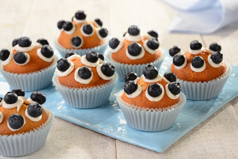 Jogurtowe muffinki w kropki