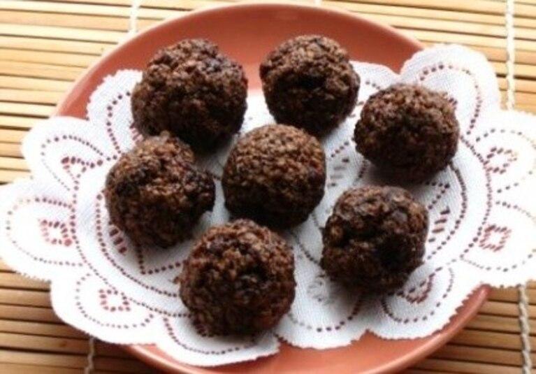 Kakaowe trufle owsiane