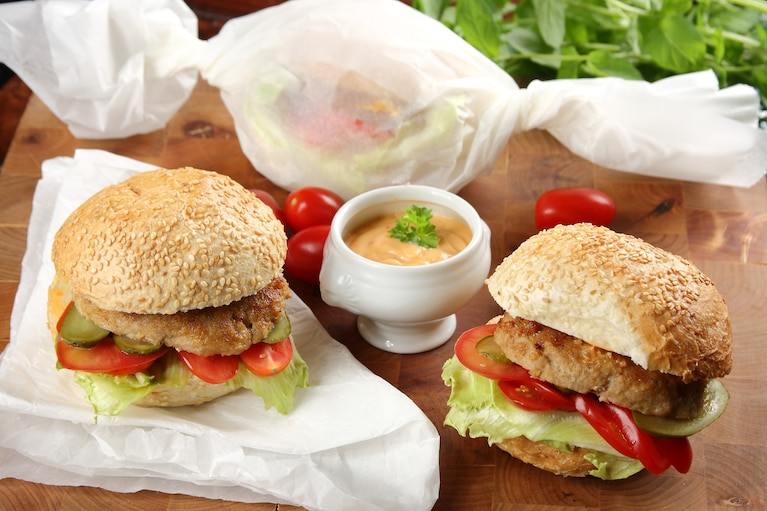 Kanapka A La Hamburger Z Kotletem Mielonym