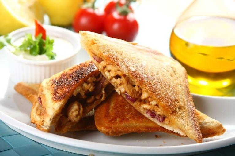 Kebab w chlebie tostowym