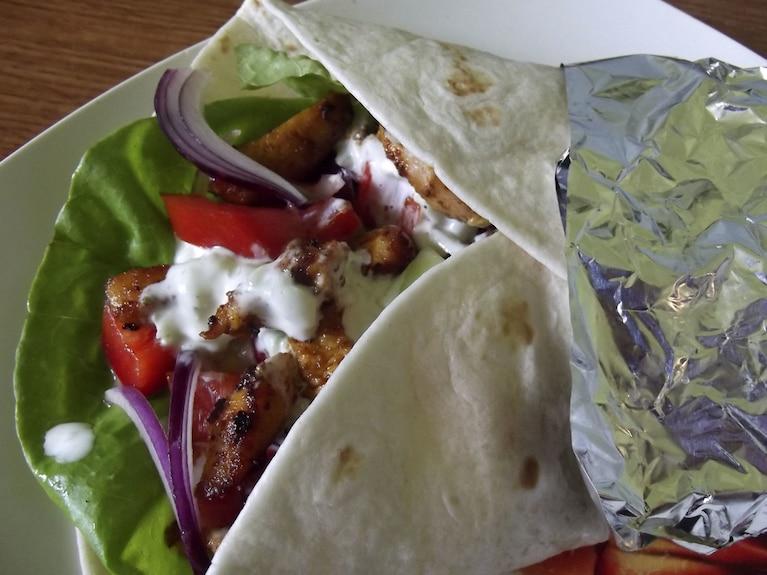 Kebab z niby tzatziki