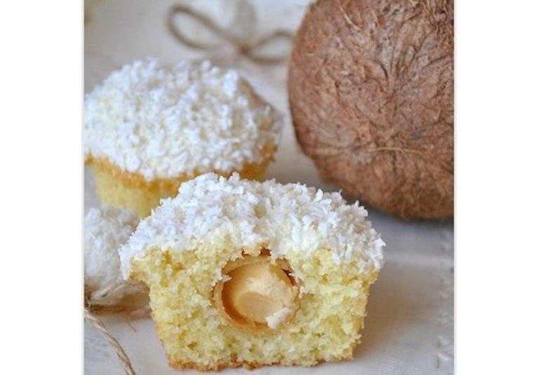 Kokosowe muffinki z Rafaello - przepis