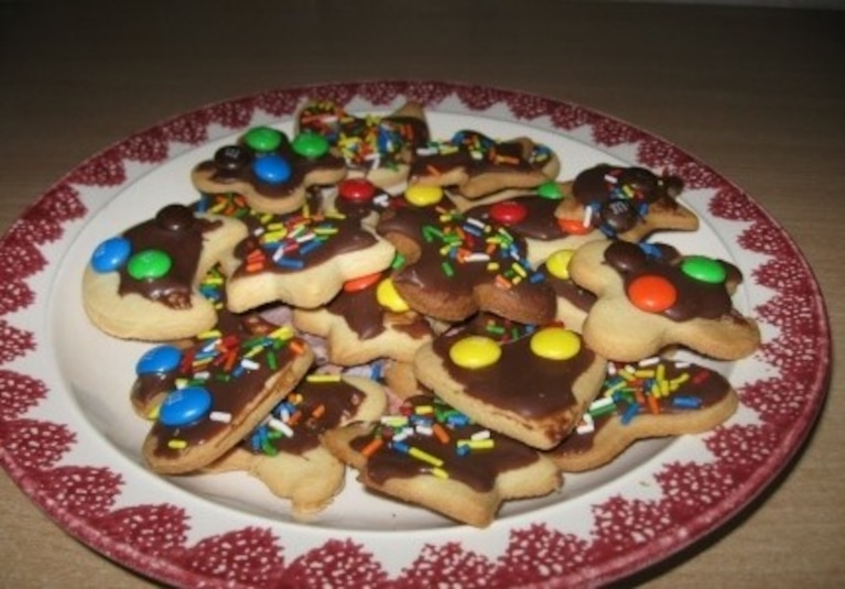Kruche ciasteczka z posypką