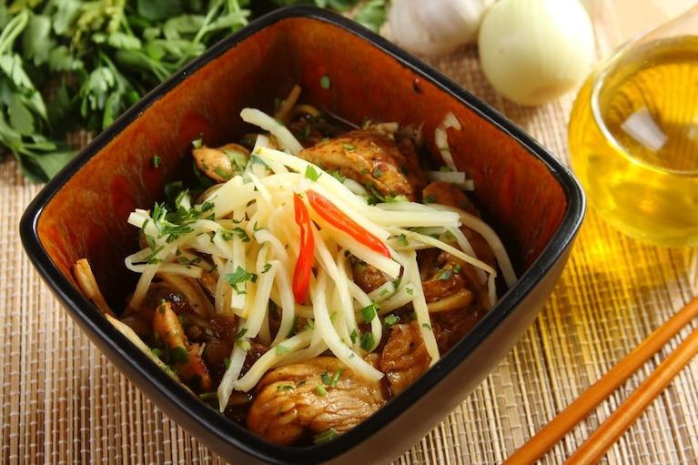 Kurczak z bambusem