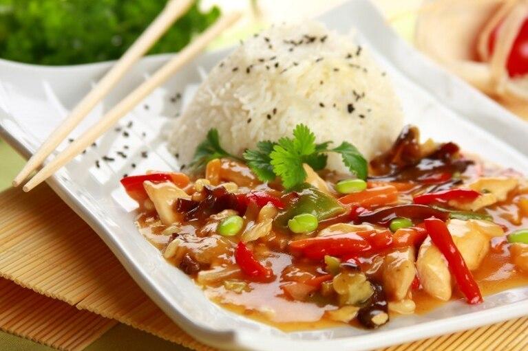 Kurczak z jarzynami po chińsku