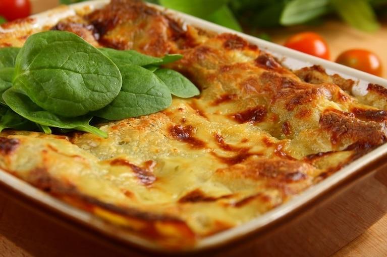 Lasagne ze szpinakiem i grzybami