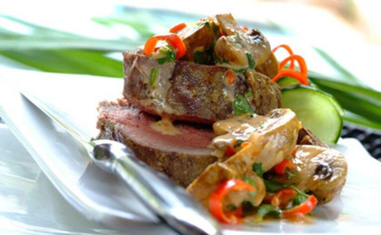 Marynowana wołowina z grzybami