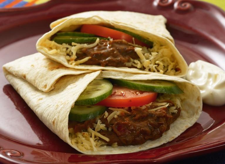 Meksykańskie placki fajitas z warzywami