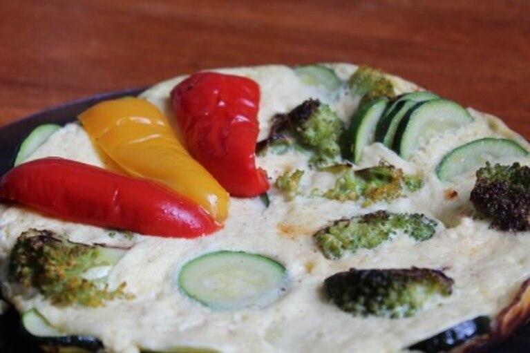 Omlet z zielonymi warzywami