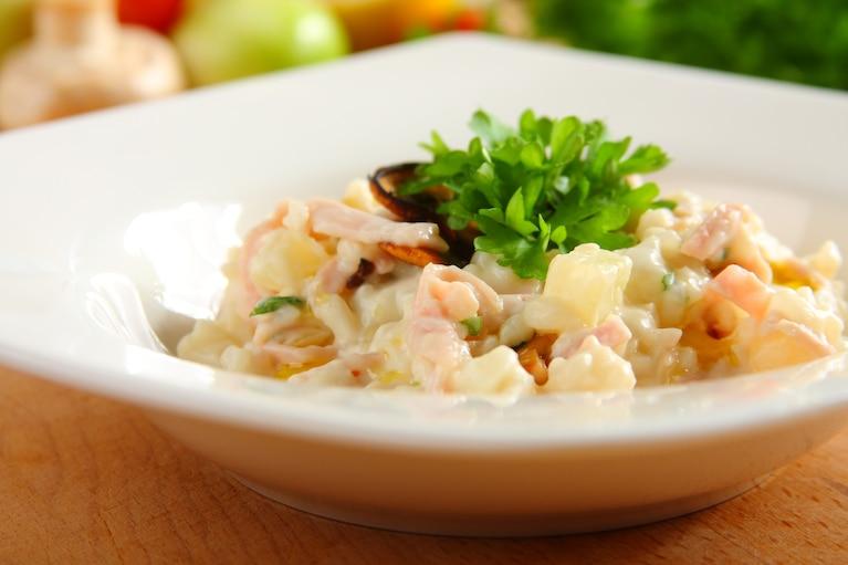 Pieczarkowo – ananasowe risotto