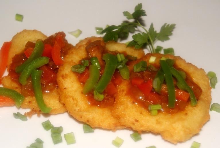 Placki ziemniaczane + gulasz wieprzowy z papryką