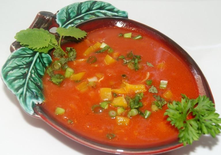 Pomidorowa z trzema  kolorami