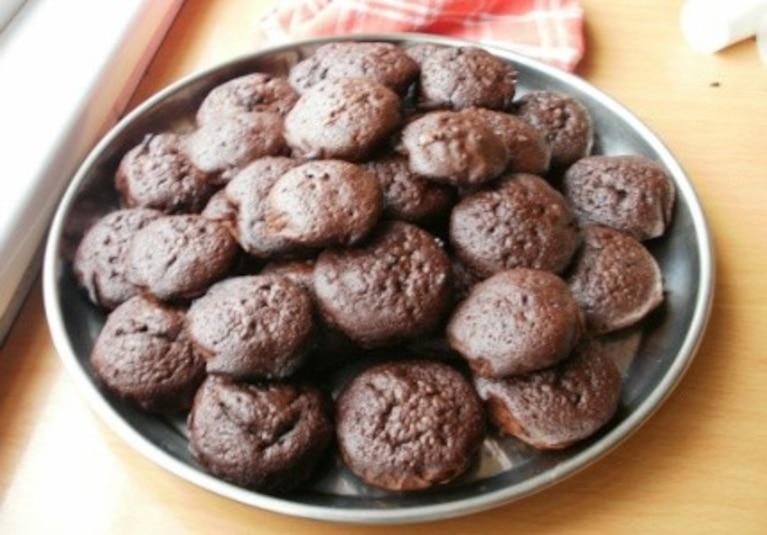 Potrójnie czekoladowe ciasteczka