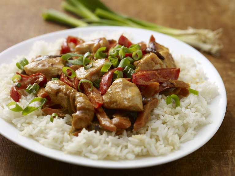 Proste czerwone tajskie curry