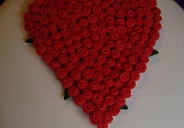 Różane serducho