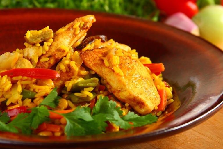 Ryż curry z warzywami
