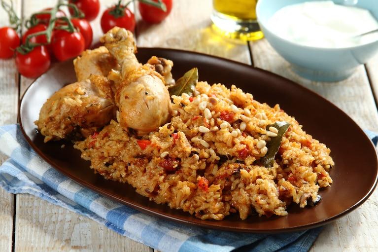 Ryż z warzywami i mięsem