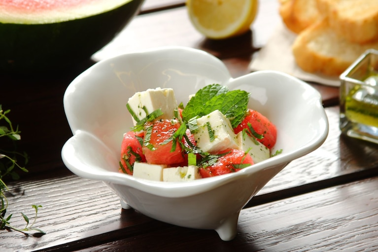 Sałatka z arbuzem i serem feta