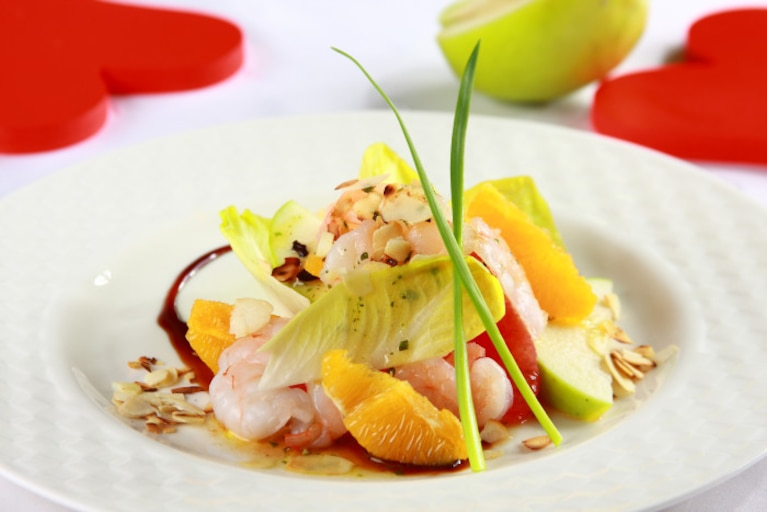 Sałatka z cykorii i owoców cytrusowych