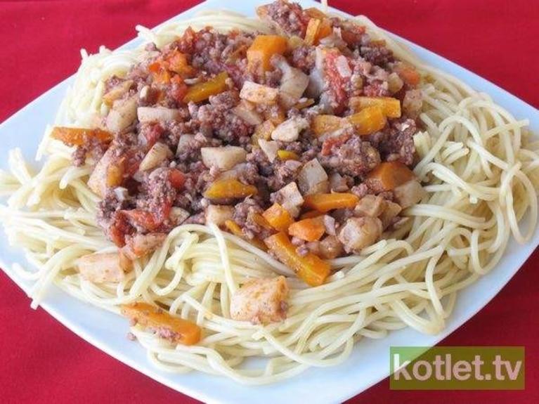 Spaghetti z miesem mielonym